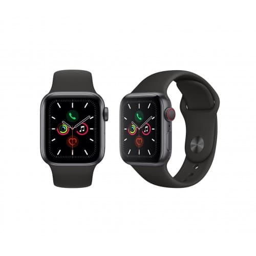 Apple Watch Series 5 44mm Gps+cellular Space Grey Front Side 500x500
